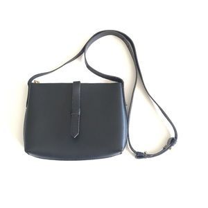 J.CREW Black Mini Leather Crossbody Bag